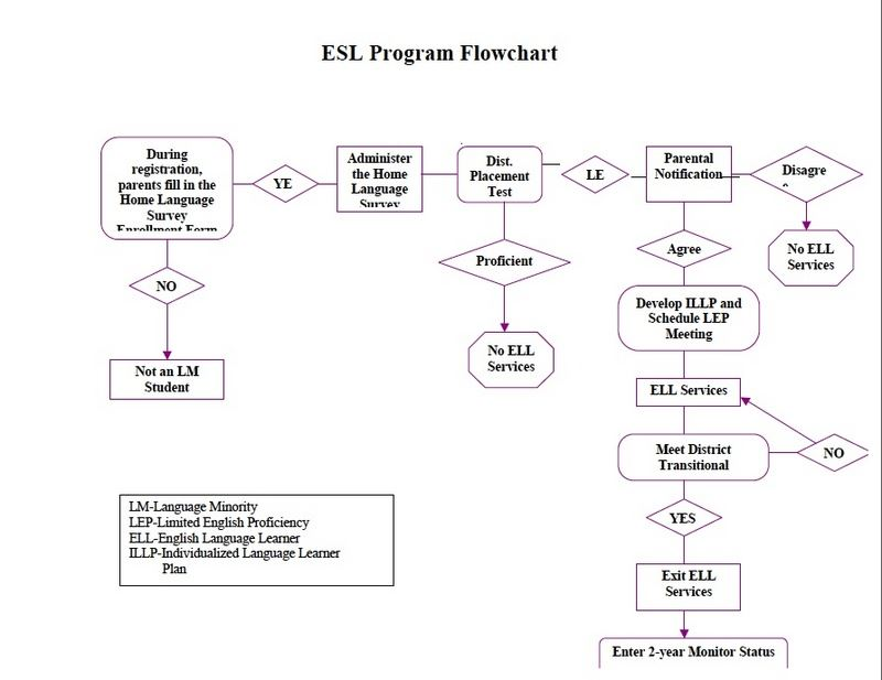 Content And Learning Ell Plan Flow Chart