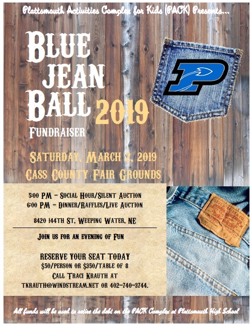 SAVE THE DATE: March 2, 2019-PACK Blue Jean Ball Fundraiser