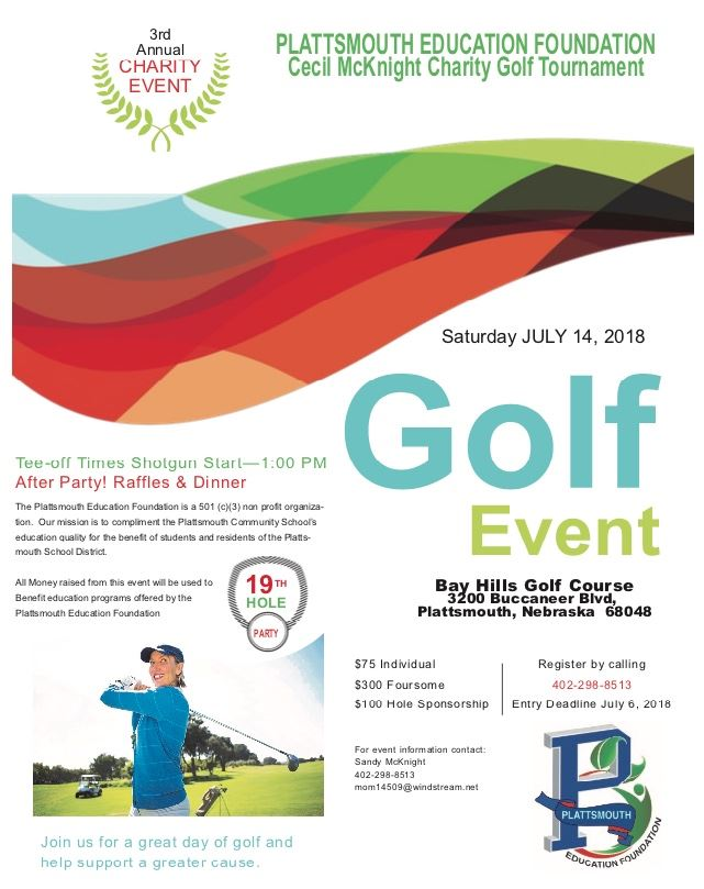 2018 Plattsmouth Education Foundation Golf Tournament