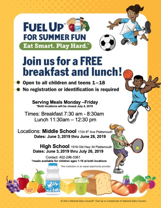 You asked for it. You got it. Summer meals are back at PCS.