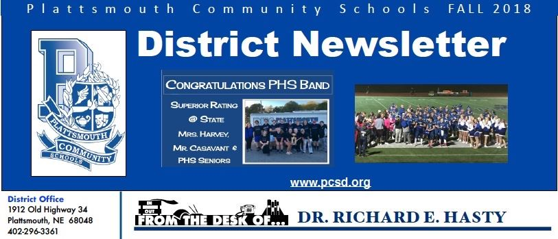 2018-2019 PCS Fall District Newsletter